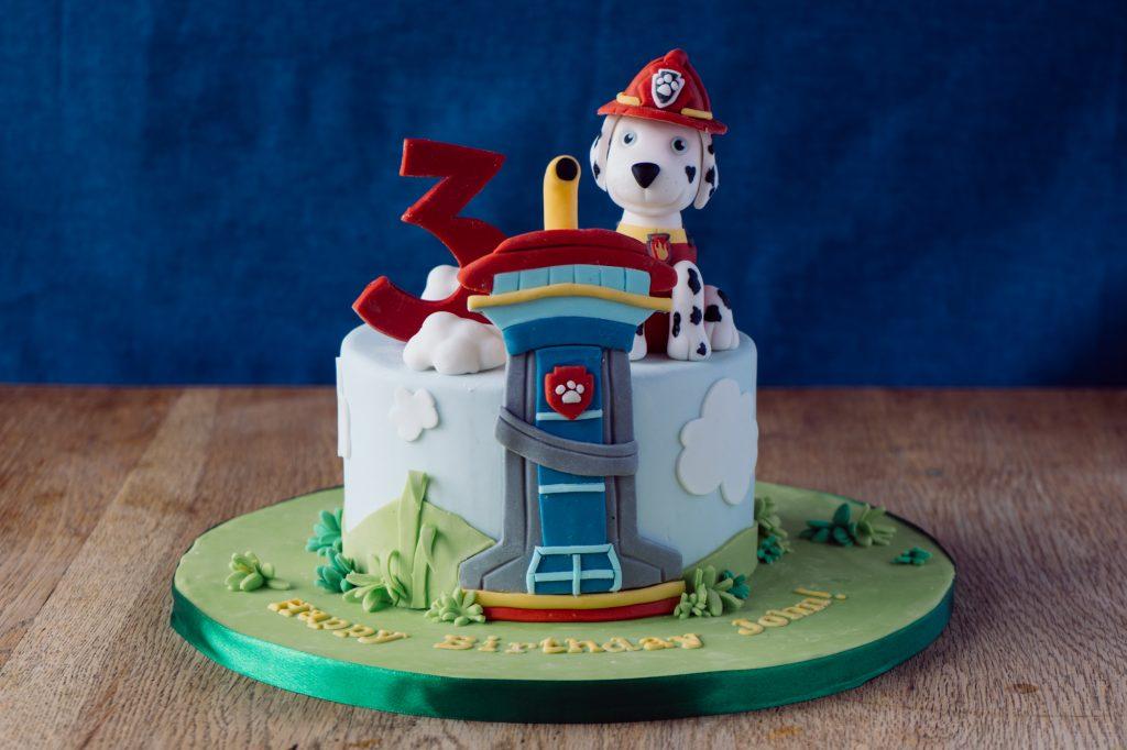 3d Paw Patrol birthday cake