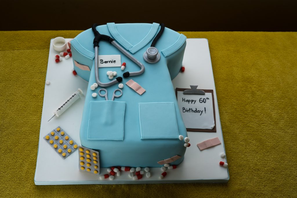 Cake in style of nurses uniform