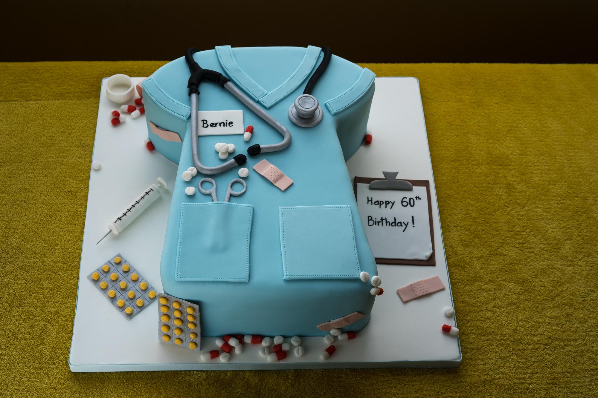 Cake in style of nurses uniform