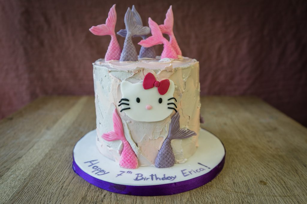 Hello Kitty and mermaids cake