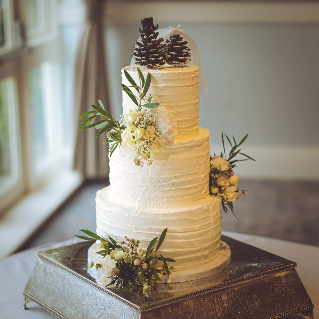 3 tier buttercream rustic wedding cake - Cake Gallery - Gabi Bakes Cakes