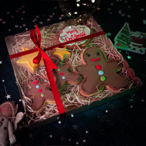 Gingerbread men cookie gift set