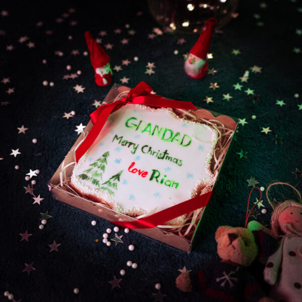 Kids personalised Christmas cookie gift wrapped