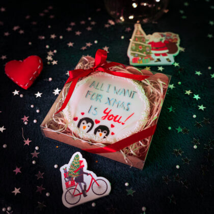 Single personalised Christmas cookie gift
