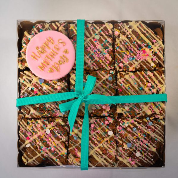 Mothers Day Chocolate Brownies - Mother's Day Chocolate Brownies (9 brownies) (postable) - Gabi Bakes Cakes