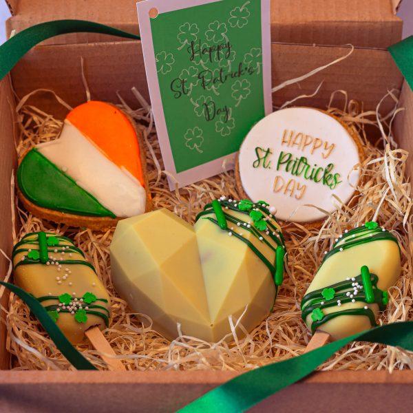 Pot of Gold Mixed Treat Box alt - Pot of Gold Mixed Treat Box: (postable) - Gabi Bakes Cakes