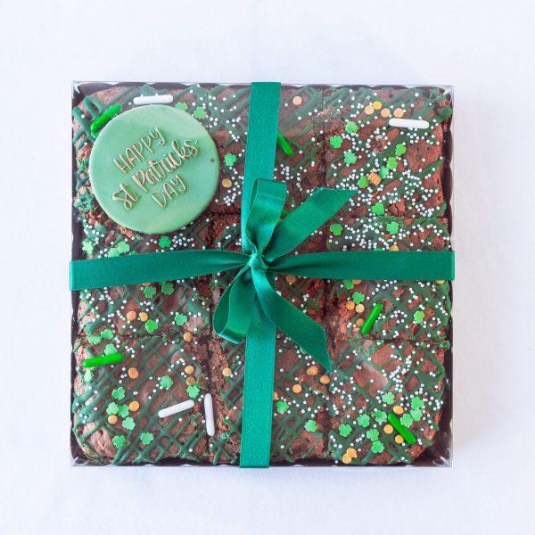 St Patricks Day Chocolate Brownies - St Patrick's Day Chocolate Brownies (9 brownies) (postable) - Gabi Bakes Cakes