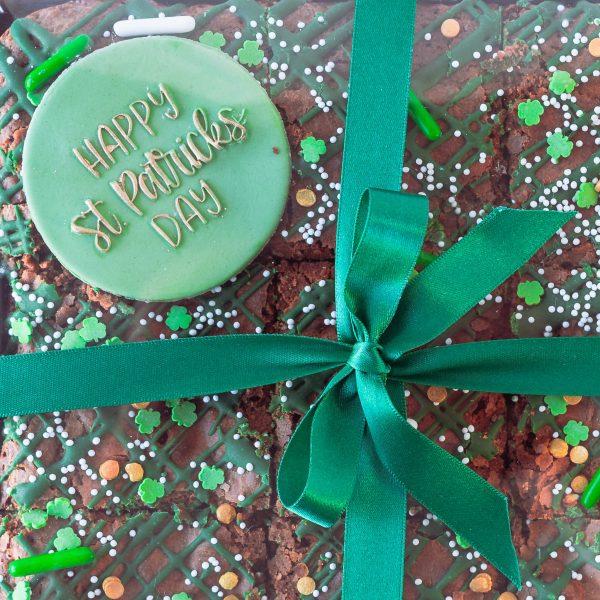 St Patricks Day Chocolate Brownies alt - St Patrick's Day Chocolate Brownies (9 brownies) (postable) - Gabi Bakes Cakes