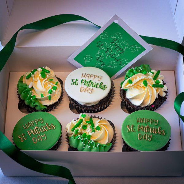 St Patricks Day Cupcakes - St Patrick's Day Cupcakes (Box of 6) - Gabi Bakes Cakes