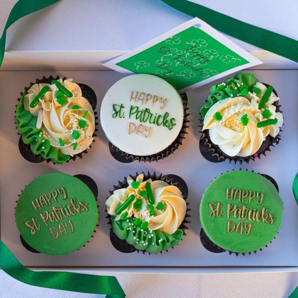 St Patricks Day Cupcakes alt - St Patrick's Day Cupcakes (Box of 6) - Gabi Bakes Cakes